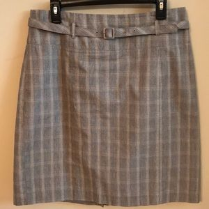 H&M Plaid skirt, grey tones. Size 14